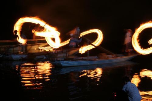 鮎漁(火振り)